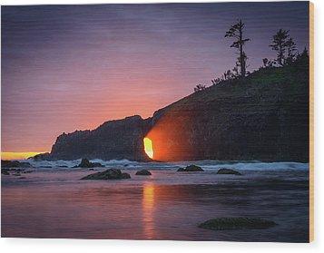 Wood Print featuring the photograph Second Beach Light Shaft by Dan Mihai
