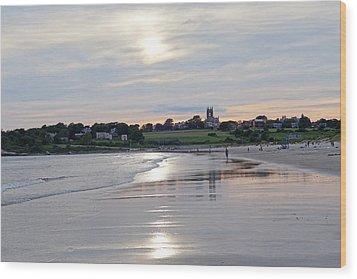 Second Beach Newport Ri Wood Print