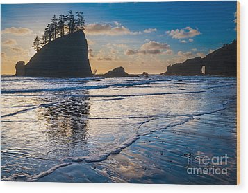 Second Beach Waves Wood Print by Inge Johnsson