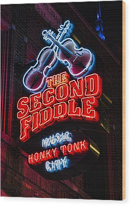 Second Fiddle Wood Print by Stephen Stookey