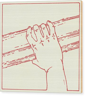 Wood Print featuring the drawing Second Station- Jesus Is Made To Carry His Cross by William Hart McNichols