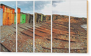 Wood Print featuring the photograph Second Valley Boat Sheds by Stephen Mitchell
