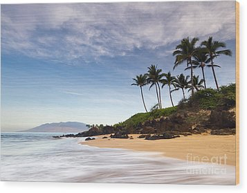 Secret Beach Maui Sunrise Wood Print by Dustin K Ryan