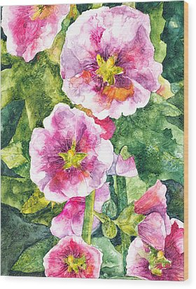 Wood Print featuring the painting Secret Garden by Casey Rasmussen White