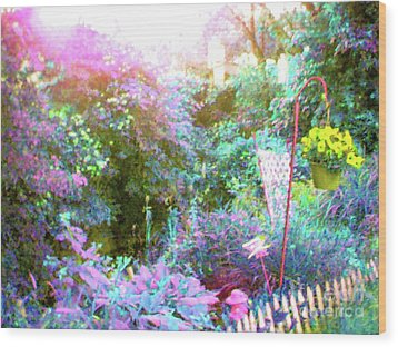 Wood Print featuring the photograph Secret Garden by Susan Carella