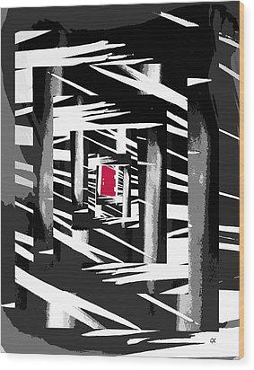 Secret Red Door Wood Print by Gerlinde Keating - Galleria GK Keating Associates Inc