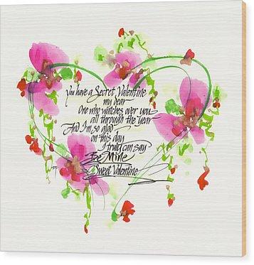 Secret Valentine Wood Print