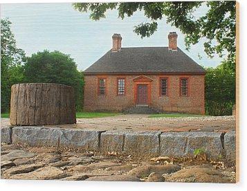 Secretary House - Williamsburg Va Wood Print by Panos Trivoulides