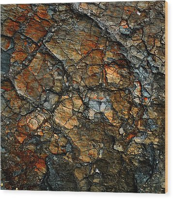 Sedimentary Abstract Wood Print by Dave Martsolf
