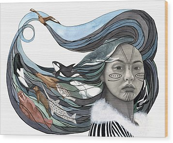 Sedna Wood Print by Antony Galbraith