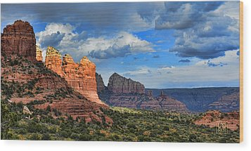 Sedona After The Storm Wood Print by Dan Turner