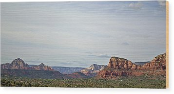 Sedona Arizona Panorama I Wood Print by Dave Gordon