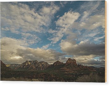 Wood Print featuring the photograph Sedona Arizona Redrock Country Landscape Fx1 by David Haskett