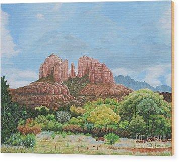 Sedona Az Wood Print by Mike Ivey