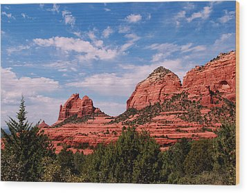 Sedona Az Wood Print by Tom Prendergast