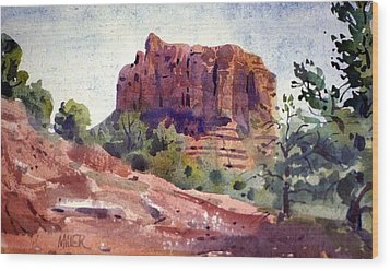 Sedona Butte Wood Print
