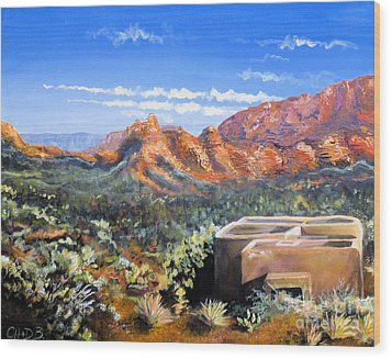 Wood Print featuring the painting Sedona by Chad Berglund