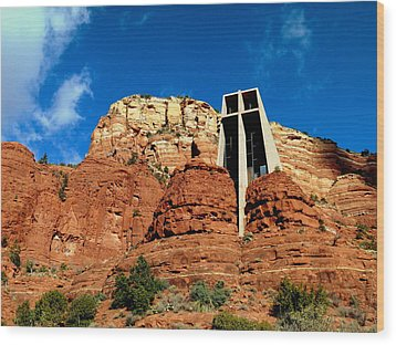 Sedona Chapel Of The Holy Cross Wood Print by Cindy Wright