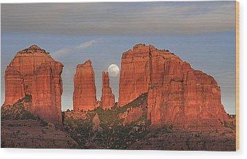 Sedona Moon Wood Print