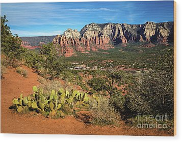 Sedona Morning Wood Print by Jon Burch Photography