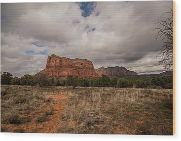 Wood Print featuring the photograph Sedona National Park Arizona Red Rock 2 by David Haskett