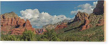 Wood Print featuring the photograph Sedona Panoramic II by Bill Gallagher