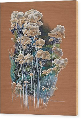 Sedona Rabbit Brush Wood Print