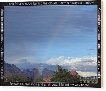 Sedona Rainbow Monsoon Wood Print