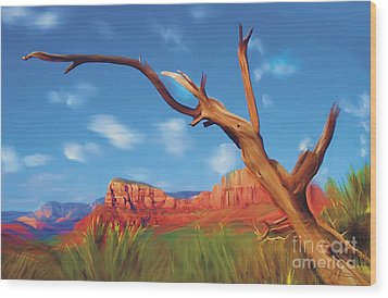 Sedona Red Rock Country Wood Print by Bob Salo