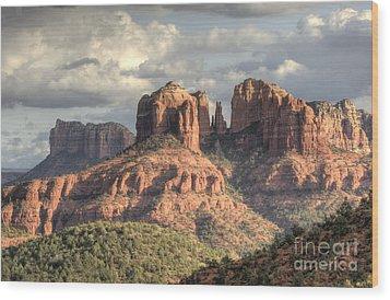 Sedona Red Rock Vista Wood Print by Sandra Bronstein