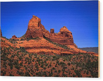 Sedona Rock Formations Wood Print