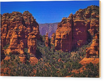 Sedona Rock Formations II Wood Print