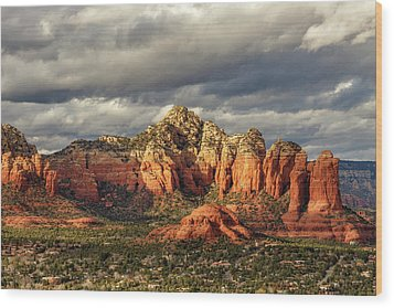 Wood Print featuring the photograph Sedona Skyline by James Eddy