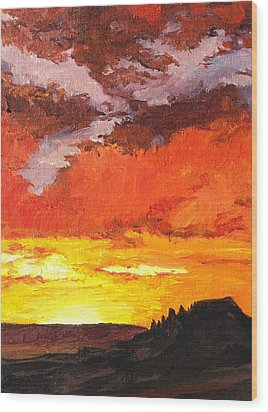 Sedona Sunset 2 Wood Print