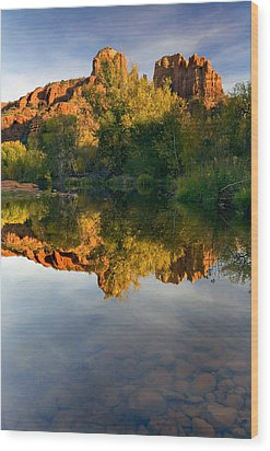 Sedona Sunset Wood Print by Mike  Dawson