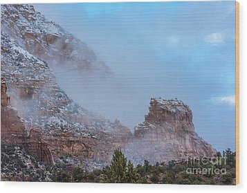 Wood Print featuring the photograph Sedona Winter by Sandra Bronstein