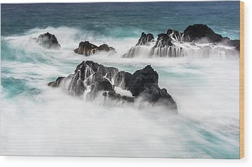 Wood Print featuring the photograph Seduced By Waves by Jon Glaser
