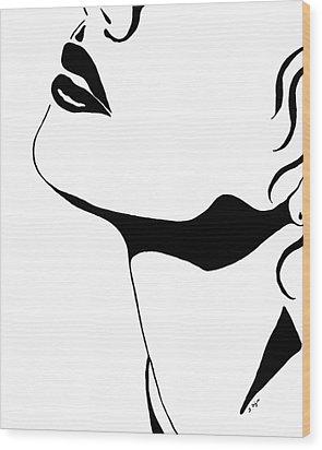 Seduction Wood Print by Sharon Cummings