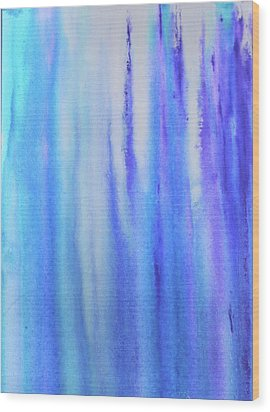 See Blue Sea Wood Print by Cyrionna The Cyerial Artist