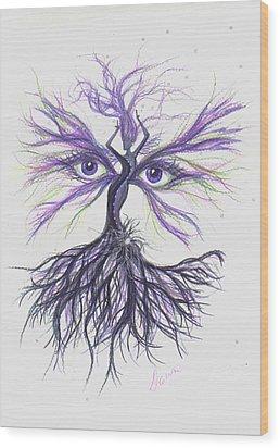 See Lavender Wood Print by Dawn Fairies