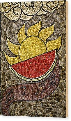 Seed Art Wood Print