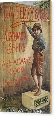 Seed Company Poster, C1890 Wood Print by Granger
