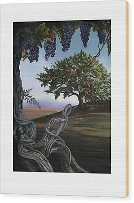 Seeds Of Eden Wood Print by Kathleen Romana