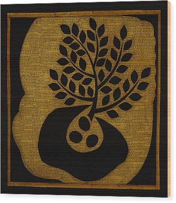 Wood Print featuring the mixed media Seeds Of Life by Gloria Rothrock