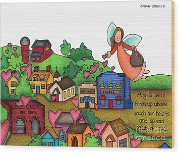 Seeds Of Love Wood Print by Sarah Batalka