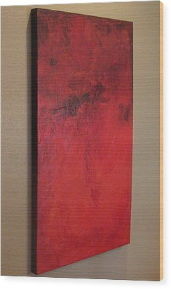 Seeing Red Wood Print by Tamara Bettencourt