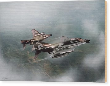 Wood Print featuring the digital art Seek And Attack by Peter Chilelli