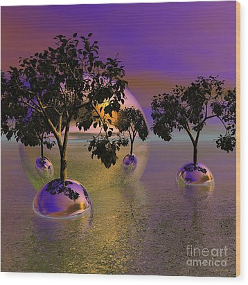 Seeking Higher Ground Wood Print by Wayne Bonney