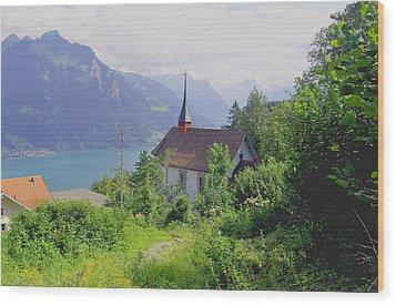 Seelisburg Switzerland Wood Print by Monica Engeler