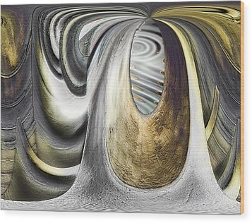 Wood Print featuring the digital art Seen In Stone by Wendy J St Christopher